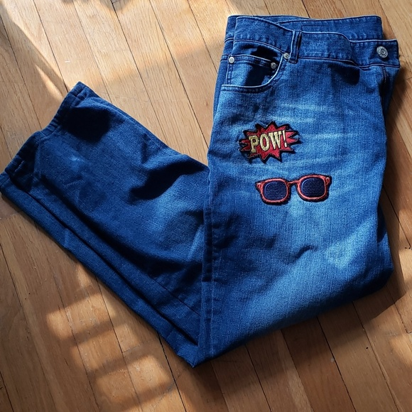 Eloquii Denim - Eloquii Applique Jeans Like New